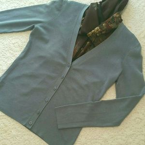 LOFT Cardigan Sweater, Med. Blue, Sz M
